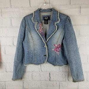 THE ORIGINAL SQUEEZE JEANS Embroidered Jacket.